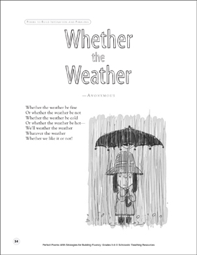 Whether the Weather: Fluency-Building Poem - Printable Worksheet