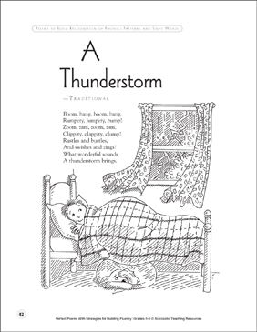 A Thunderstorm: Fluency-Building Poem - Printable Worksheet