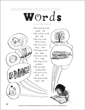 Words: Fluency-Building Poem - Printable Worksheet