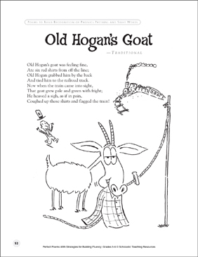 Old Hogan's Goat: Fluency-Building Poem - Printable Worksheet