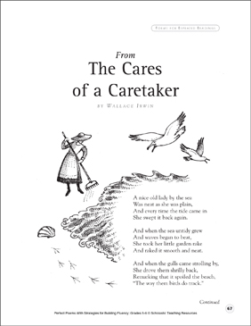 From the Cares of a Caretaker: Fluency-Building Poem - Printable Worksheet