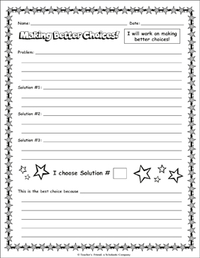 Making Better Choices! - Printable Worksheet