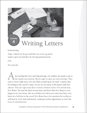 Real-Life Writing Lesson: Writing Letters - Printable Worksheet