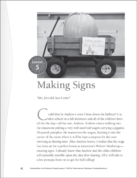Real-Life Writing Lesson: Making Signs - Printable Worksheet