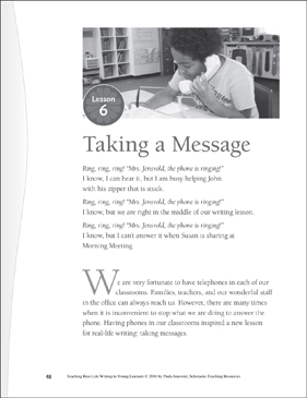 Real-Life Writing Lesson: Taking a Message - Printable Worksheet