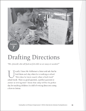 Real-Life Writing Lesson: Drafting Directions - Printable Worksheet