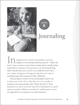 Real-Life Writing Lesson: Journaling - Printable Worksheet