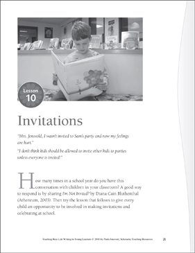 Real-Life Writing Lesson: Invitation - Printable Worksheet