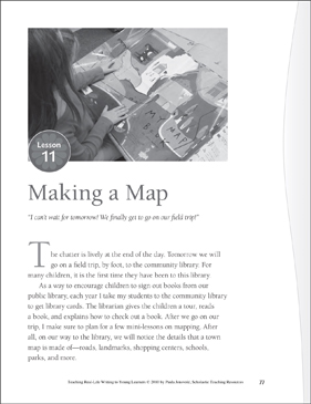 Real-Life Writing Lesson: Making a Map - Printable Worksheet