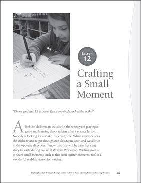 Real-Life Writing Lesson: Creating a Small Moment - Printable Worksheet