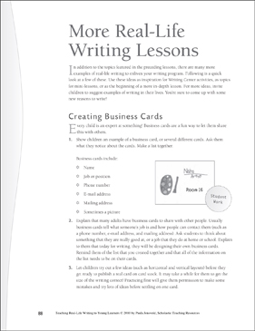 Real-Life Writing Lesson: More Real-Life Writing - Printable Worksheet