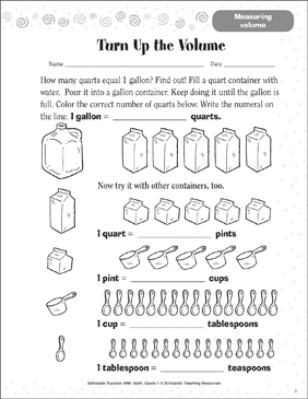 Turn Up the Volume (Measuring Volume) - Printable Worksheet
