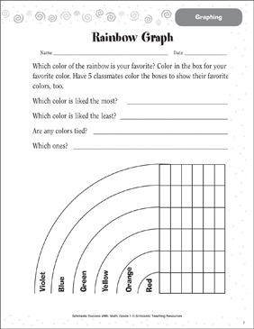 Rainbow Graph (Graphing) - Printable Worksheet