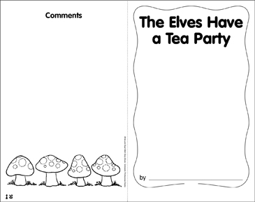 The Elves Have a Tea Party: Math Skills - Printable Worksheet