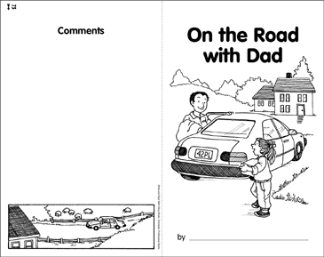 Math Skills: On the Road with Dad - Printable Worksheet