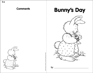 Bunny's Day: Telling Time - Printable Worksheet