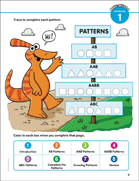 Basic Concepts 6: Patterns (AB, AAB, AABB, ABC) - Printable Worksheet