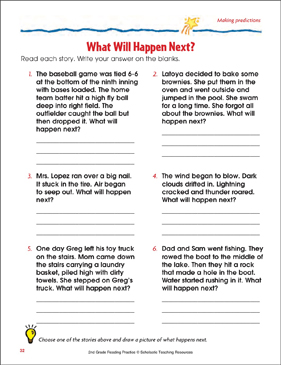 What Will Happen Next?: Reading Passage and Activity ...