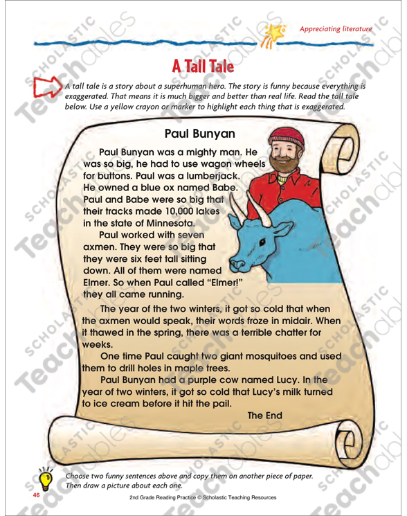 It is a picture of Printable Tall Tales with regard to pecos bill