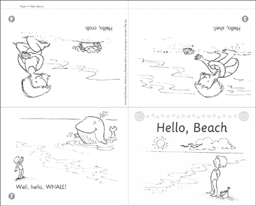 photo regarding Beach Printable identified as Hello there, Seaside Printable Mini-Publications and Techniques Sheets