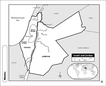 picture relating to Printable Map of Israel identify Israel and Jordan Map Printable Maps and Techniques Sheets