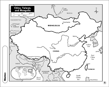 photograph relating to Printable China Map identified as China, Taiwan, and Mongolia Map Printable Maps and Abilities
