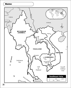 Southeast Asia Map Printable Maps And Skills Sheets