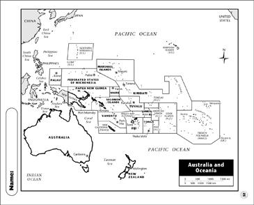 Printable Map Of Australia.Physical Map Australia Printable Maps And Skills Sheets