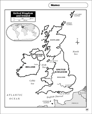 picture relating to Printable Map of Uk and Ireland titled United Kingdom and Eire Map Printable Maps and Competencies
