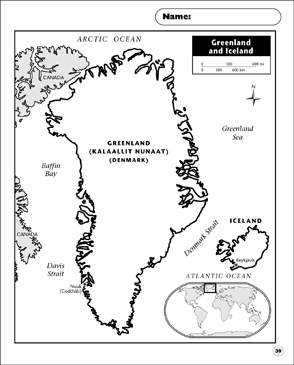 graphic about Printable Iceland Map identified as Greenland and Iceland Map Printable Maps and Expertise Sheets