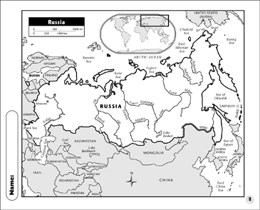 graphic relating to Printable Map of Russia known as Russia Map Printable Maps and Capabilities Sheets