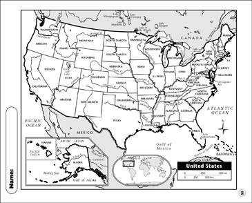United States Map | Printable Maps and Skills Sheets