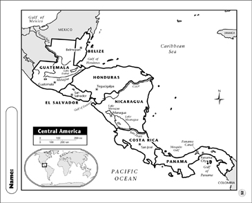 photo relating to Printable Maps of Central America identify Central The united states Map Printable Maps and Competencies Sheets