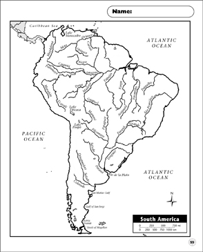 photo relating to Printable Maps of South America named Actual physical Map (South The us) Printable Maps and Capabilities Sheets