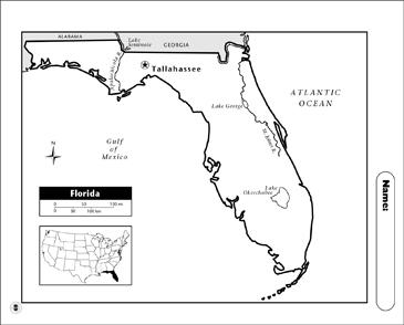 Florida Map Printable.Florida Map Printable Maps And Skills Sheets