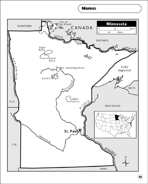 graphic relating to Printable Maps of Minnesota called Minnesota Map Printable Maps and Expertise Sheets