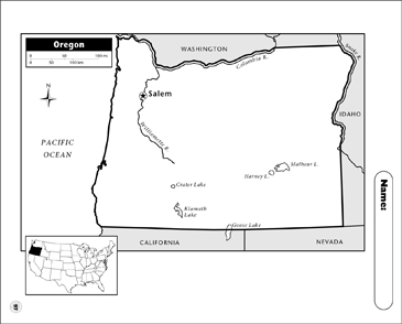graphic about Printable Map of Oregon known as Oregon Map Printable Maps and Competencies Sheets
