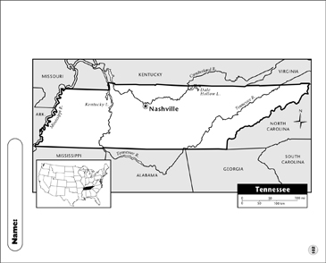 image relating to Printable Maps of Tennessee referred to as Tennessee Map Printable Maps and Capabilities Sheets