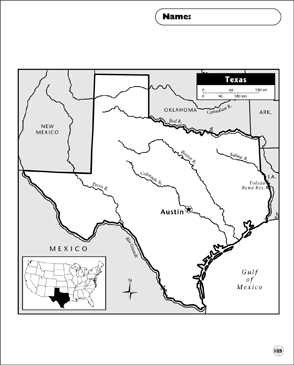 photograph relating to Printable Texas Map identified as Texas Map Printable Maps and Techniques Sheets