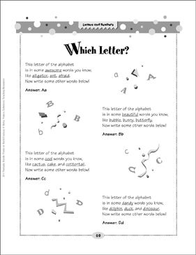 Which Letter? (Letters and Numbers) - Printable Worksheet