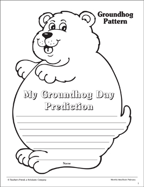 photograph relating to Ground Hog Day Printable identify Groundhog Working day Pop-Up Craft And Prediction Bulletin Board