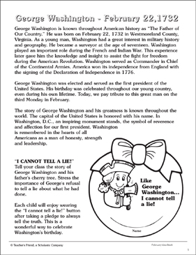 graphic about George Washington Printable Worksheets identify George Washington: Biography, Functions, and Write-up