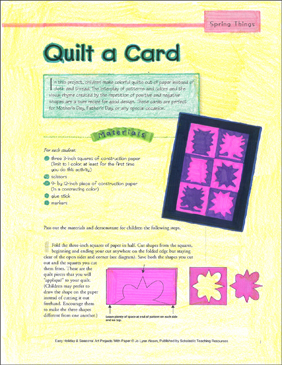 Quilt a Card: Spring Art Project - Printable Worksheet
