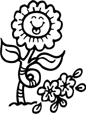 Smiling Sunflower | Printable Clip Art and Images