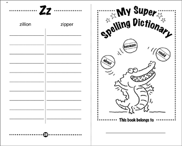 image relating to Printable Dictionary identified as My Tremendous Spelling Dictionary Printable Mini-Publications