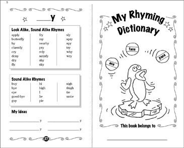 picture regarding Printable Dictionary known as My Rhyming Term Dictionary Printable Mini-Publications, Studies