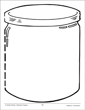photograph about Printable Shape Book referred to as Vacant Jar: Form E-book Include Printable University student Presentation