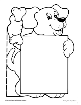 image regarding Printable Shape Book referred to as Canine Trying to keep Signal: Form E book Protect Printable University student