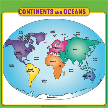 graphic regarding Printable Map of Continents and Oceans identified as Continents and Oceans Map: University student Reference Website page