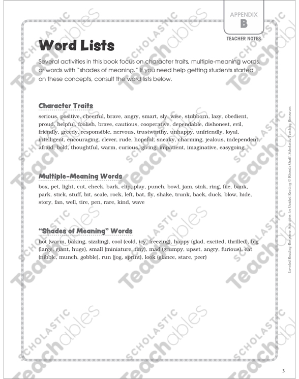 Unlock Word Meaning (Leveled-Reading E/F): Guided Reading